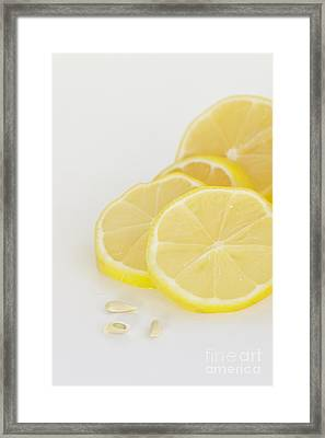 Lemons Framed Print by Kay Pickens