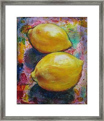 Lemons Framed Print by Sheila Diemert
