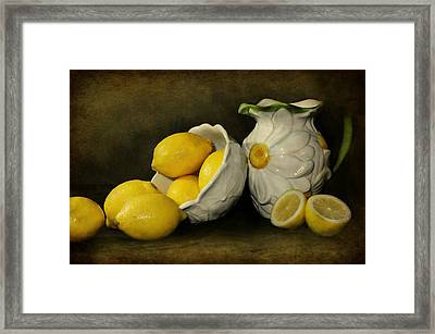 Lemons Today Framed Print by Diana Angstadt