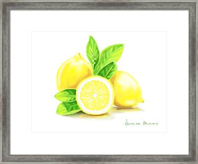 Lemons Framed Print by Veronica Minozzi