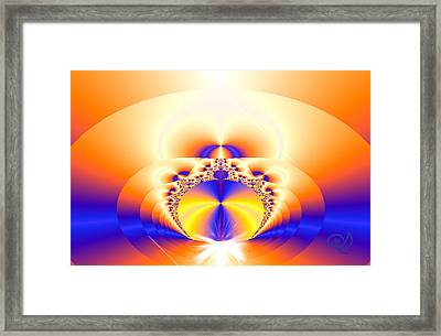 Lemurian Gate Framed Print by Ute Posegga-Rudel