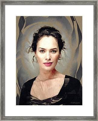 Lena Headey Framed Print by Marina Likholat