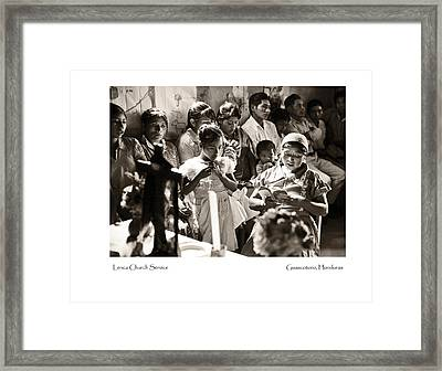 Lenca Church Service Framed Print