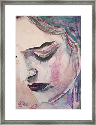 L'encre De Tes Yeux Framed Print