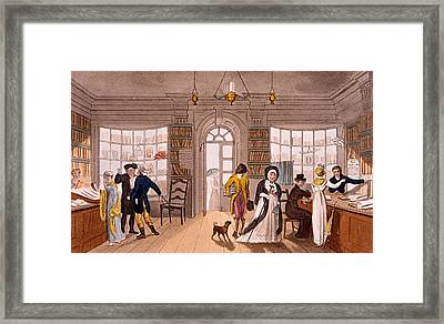 Lending Library, 1813 Framed Print