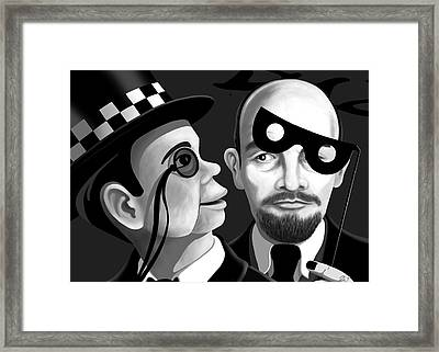 Lenin And Mccarthy   Framed Print by Tom Dickson