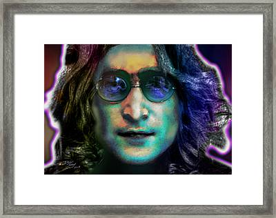 Haunting Lennon  Framed Print by Dan Terry