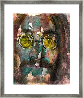 Framed Print featuring the painting Lennon 2 by Laur Iduc