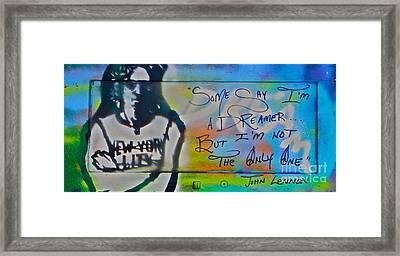 Lennon The Dreamer Framed Print by Tony B Conscious