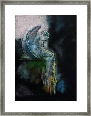 Framed Print featuring the drawing L'ennui Au Paradis by Penny Collins