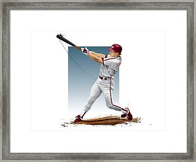 Lenny Dykstra Framed Print by Scott Weigner