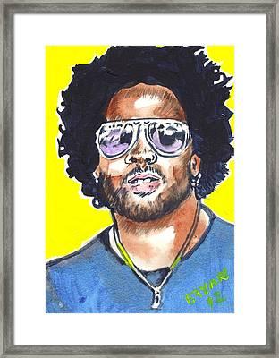 Lenny Kravitz Framed Print by Bryan Bustard