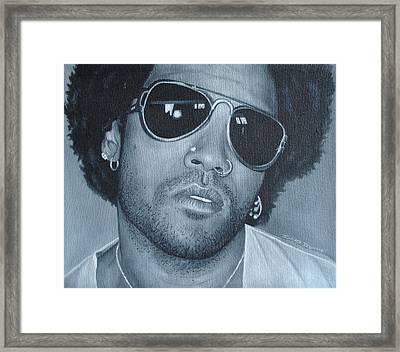 Lenny Kravitz II Framed Print by David Dunne