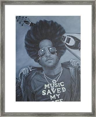 Lenny Kravitz 'mr Cool' Framed Print