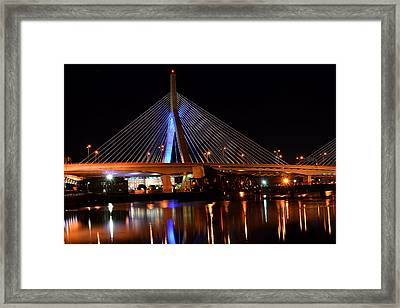 Lenny Zakim Bridge Boston Ma Framed Print by Toby McGuire