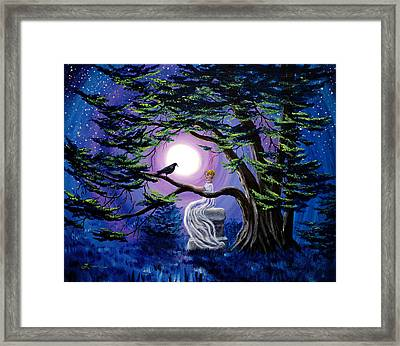 Lenore By A Cypress Tree Framed Print by Laura Iverson