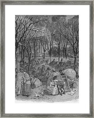 Lenox, Massachusetts, From Historical Collections Of Massachusetts, John Warner Barber, Engraved Framed Print by John Warner Barber