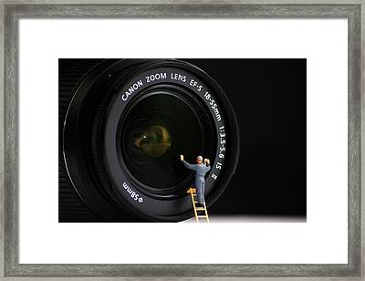 Lens Cleaner Framed Print by Martin Newman