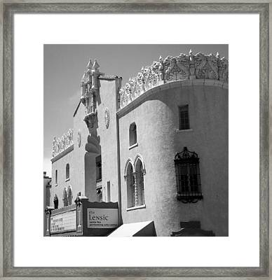 Framed Print featuring the photograph Lensic Bw by Jemmy Archer