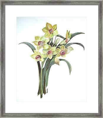 Lent Lily Framed Print by Tracey Harrington-Simpson
