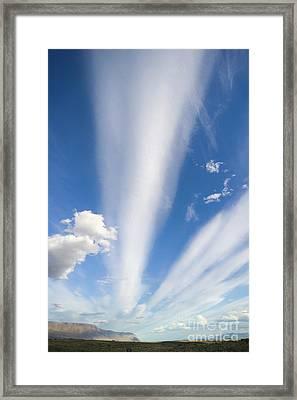 Lenticular And Cumulus Clouds Patagonia Framed Print