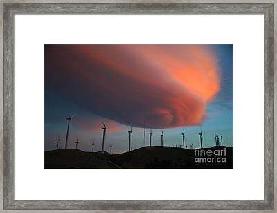 Lenticular Cloud At Sunset Framed Print by Jane Axman