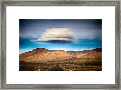 Lenticular Cloud Ft. Churchill State Park Nevada Framed Print