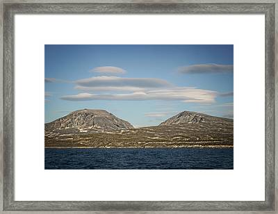 Framed Print featuring the photograph Lenticular Cloud Hangout by Ben Shields