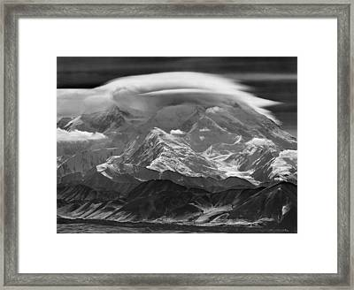 101366-lenticular Cloudcap Over Mt. Mckinley Framed Print