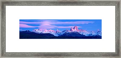 Lenticular Clouds And Pre-dawn Light Framed Print by Panoramic Images
