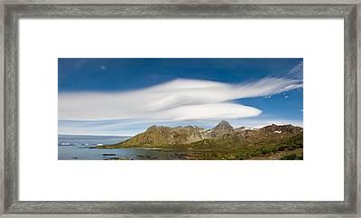 Lenticular Clouds Forming Over Cooper Framed Print