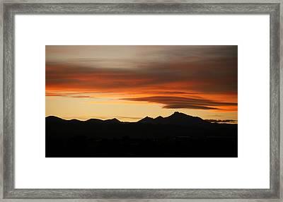 Lenticular Clouds Over Longs Peak 2 Framed Print