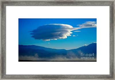 Lenticular Dust Storm Framed Print by Angela J Wright