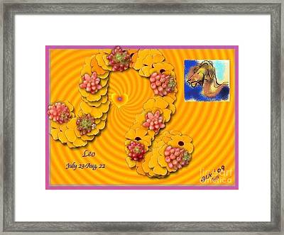 Framed Print featuring the digital art Leo  by The Art of Alice Terrill
