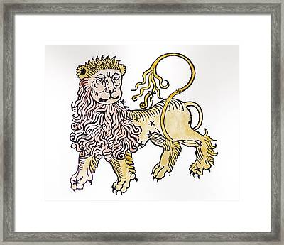 Leo An Illustration From The Poeticon Framed Print by Italian School