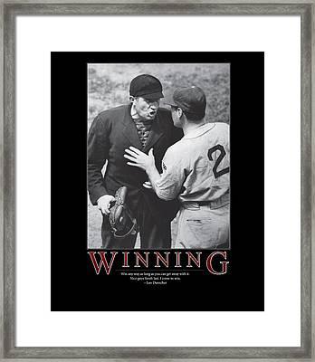 Leo Durocher Winning Framed Print