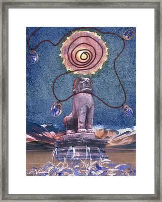 Leo Framed Print by Maria Jesus Hernandez