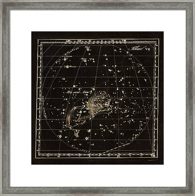 Leo Minor Constellation, 1829 Framed Print by Science Photo Library