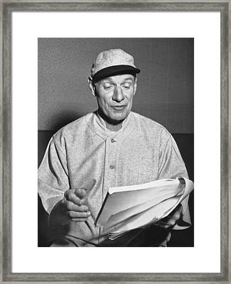 Leo the Lip Durocher Framed Print by Underwood Archives