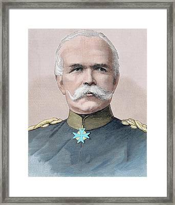 Leo Von Caprivi (caprivi Georg Leo Graf Framed Print by Prisma Archivo