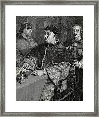 Leo X (1475-1521 Framed Print by Prisma Archivo