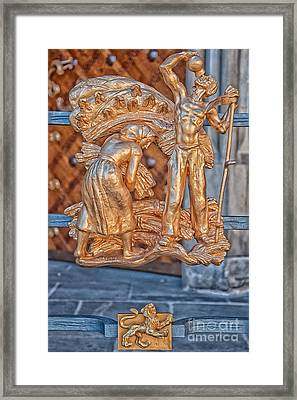 Leo Zodiac Sign - St Vitus Cathedral - Prague Framed Print by Ian Monk