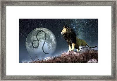 Leo Zodiac Symbol Framed Print by Daniel Eskridge