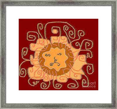 Leo2 Framed Print by Meenal C