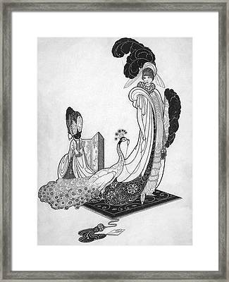 Leon Bakst Style Illustration Framed Print