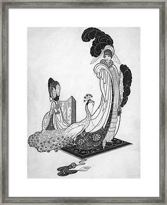 Leon Bakst Style Illustration Framed Print by Alan Olde