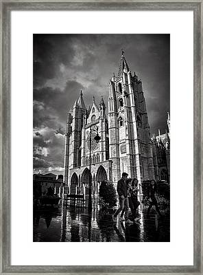 Leon Cathedral Framed Print by Tom Bell