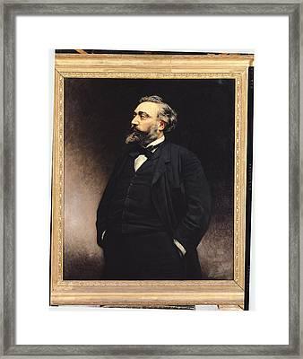 Leon Gambetta 1838-82 Oil On Canvas Framed Print