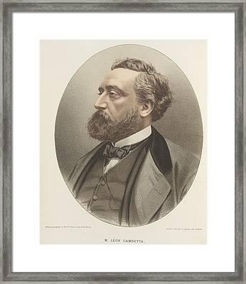 Leon Michel Gambetta Framed Print