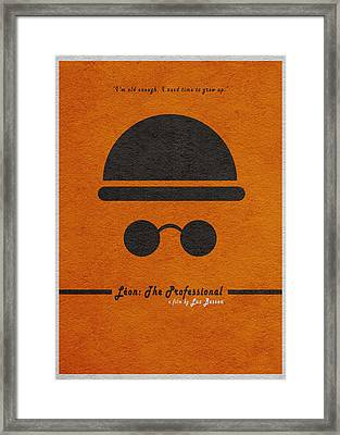 Leon The Professional Framed Print by Ayse Deniz